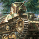 tank painting live wallpaper icon