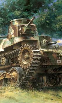 tank painting live wallpaper poster