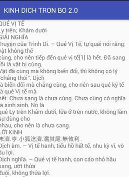 KINH DỊCH TRỌN BỘ 2.0 apk screenshot