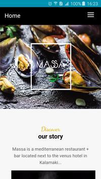 MASSA cuisine+bar poster