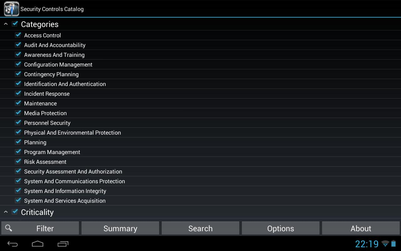NIST Security Controls for Android - APK Download