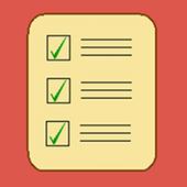 Assignment arrange docket icon