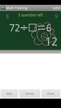 Math Training apk screenshot