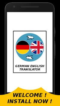 German English Translator With Text & Audio Sound poster