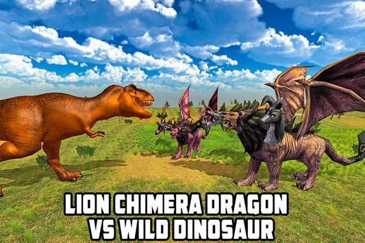 Lion Chimera Dragon vs Wild Dinosaur screenshot 2
