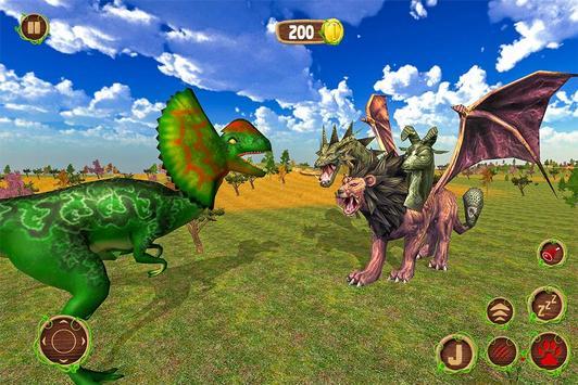 Lion Chimera Dragon vs Wild Dinosaur screenshot 8