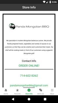 Panda Mongolian BBQ Rewards screenshot 2