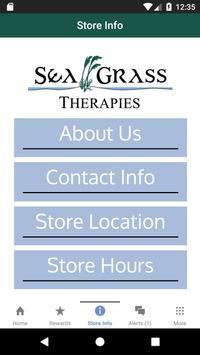 Sea Grass Therapies Rewards poster