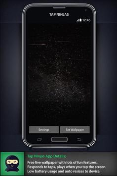 Space Alien Invasion LWP ảnh chụp màn hình 1