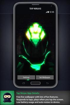 Space Alien Invasion LWP ảnh chụp màn hình 2