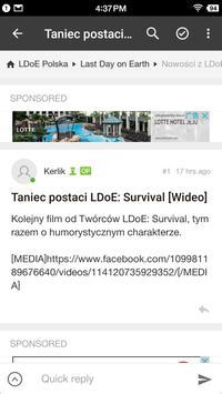 Czytnik forum Last Day on Earth: Survival Polska apk screenshot