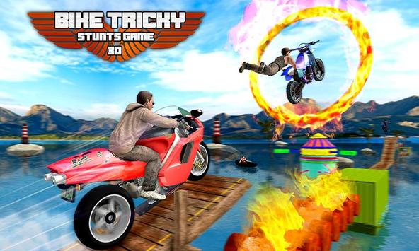 Bike Tricky Stunts Game 2018 poster