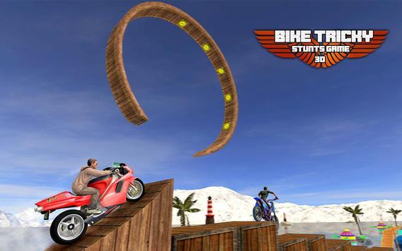 Bike Tricky Stunts Game 2018 screenshot 11