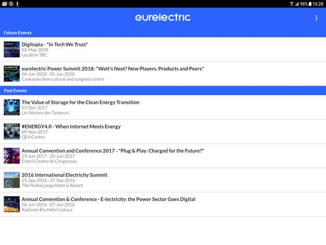 Eurelectric Events apk screenshot