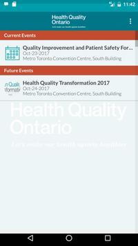 Health Quality Ontario Events apk screenshot