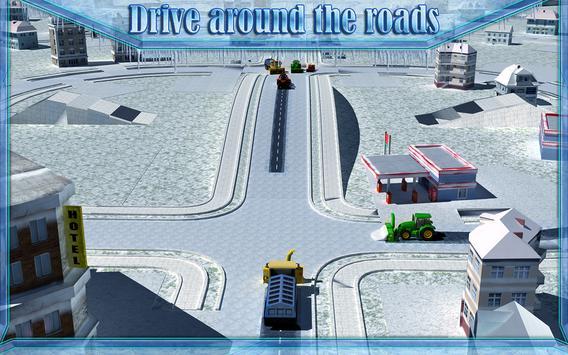 Snow Blower Truck Simulator 3D screenshot 6