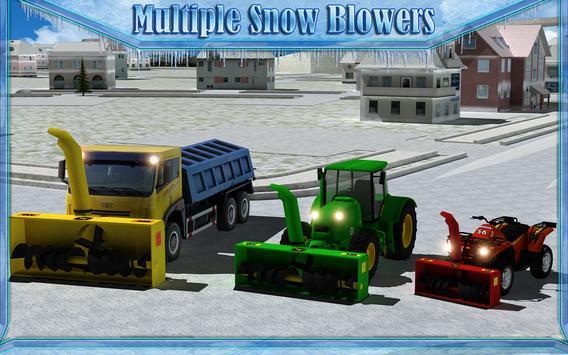 Snow Blower Truck Simulator 3D screenshot 8