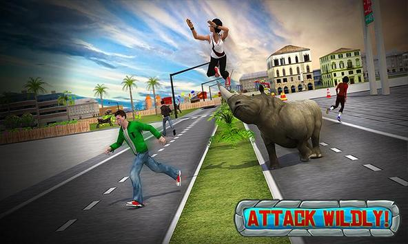 Crazy Rhino Attack 3D screenshot 4