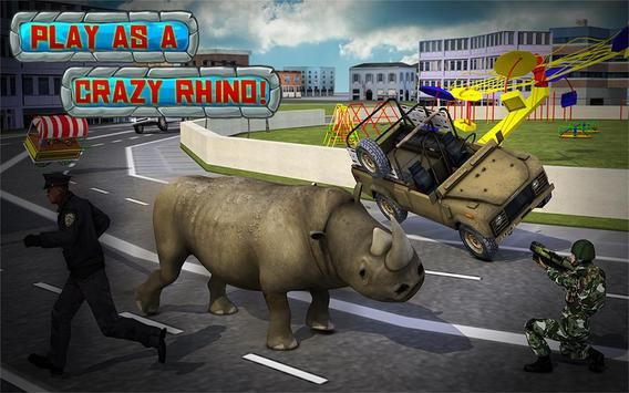 Crazy Rhino Attack 3D screenshot 5