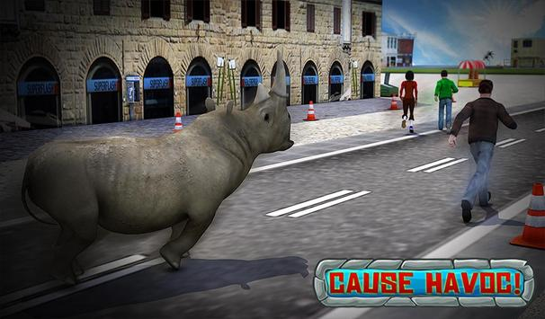 Crazy Rhino Attack 3D screenshot 13