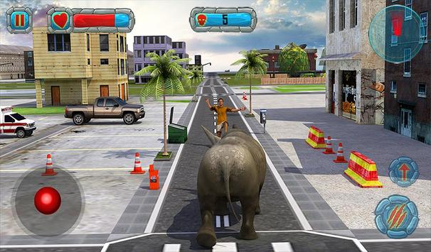 Crazy Rhino Attack 3D screenshot 11