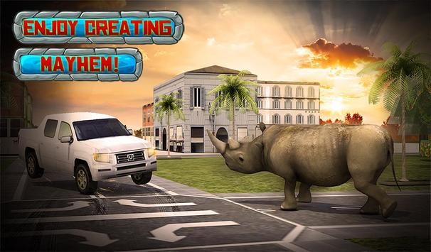 Crazy Rhino Attack 3D screenshot 12