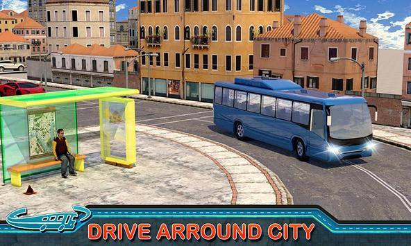 City Bus Driving Mania 3D पोस्टर