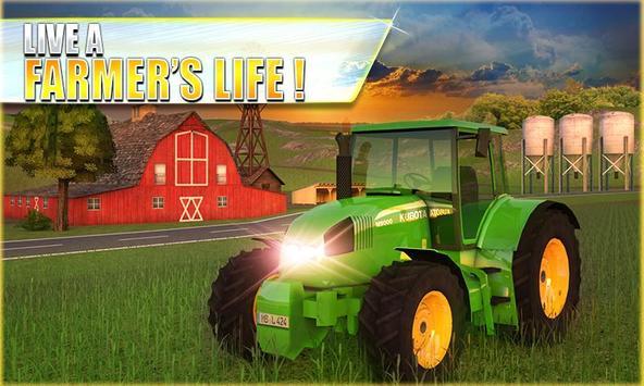 Farm Tractor Simulator 3D ポスター