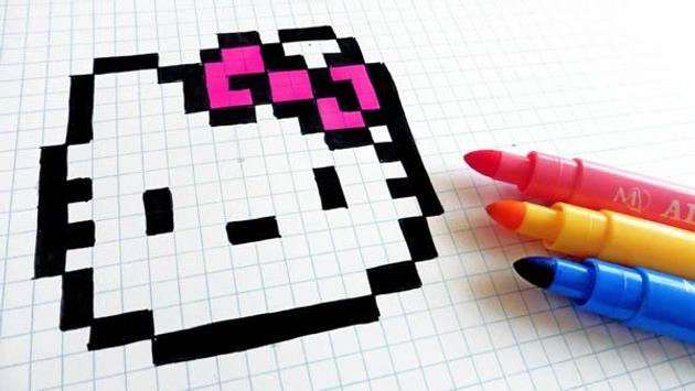 Dibujo del arte del pixel for android apk download - Comment dessiner hello kitty ...