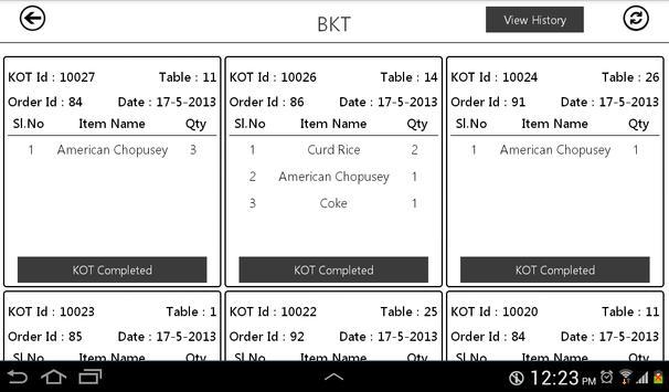 Tappyoka Kitchen Display apk screenshot