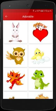 Cute Animal Emoji Stickers apk screenshot