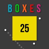 Boxes vs balls icon