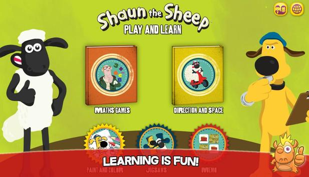 Shaun learning games for kids poster