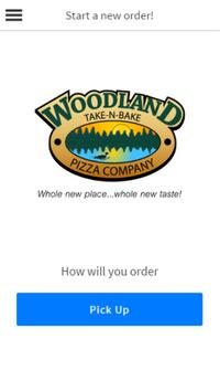Woodland Take N Bake Pizza poster