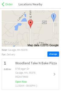 Woodland Take N Bake Pizza apk screenshot