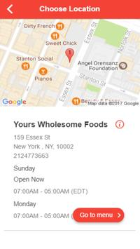 Yours Wholesome Foods apk screenshot