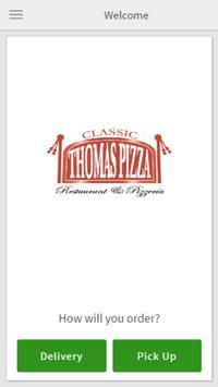 Classic Thomas Pizza poster