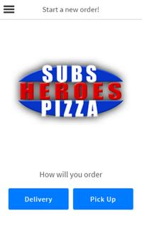 Heroes Subs and Pizza poster