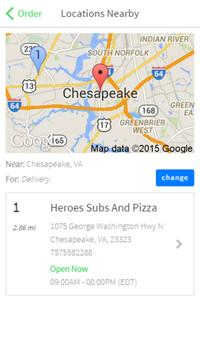 Heroes Subs and Pizza screenshot 1