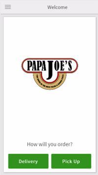 Papa Joe's Ordering poster