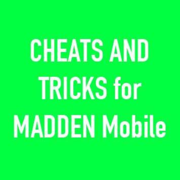 Cheats for NFL Madden Mobile poster