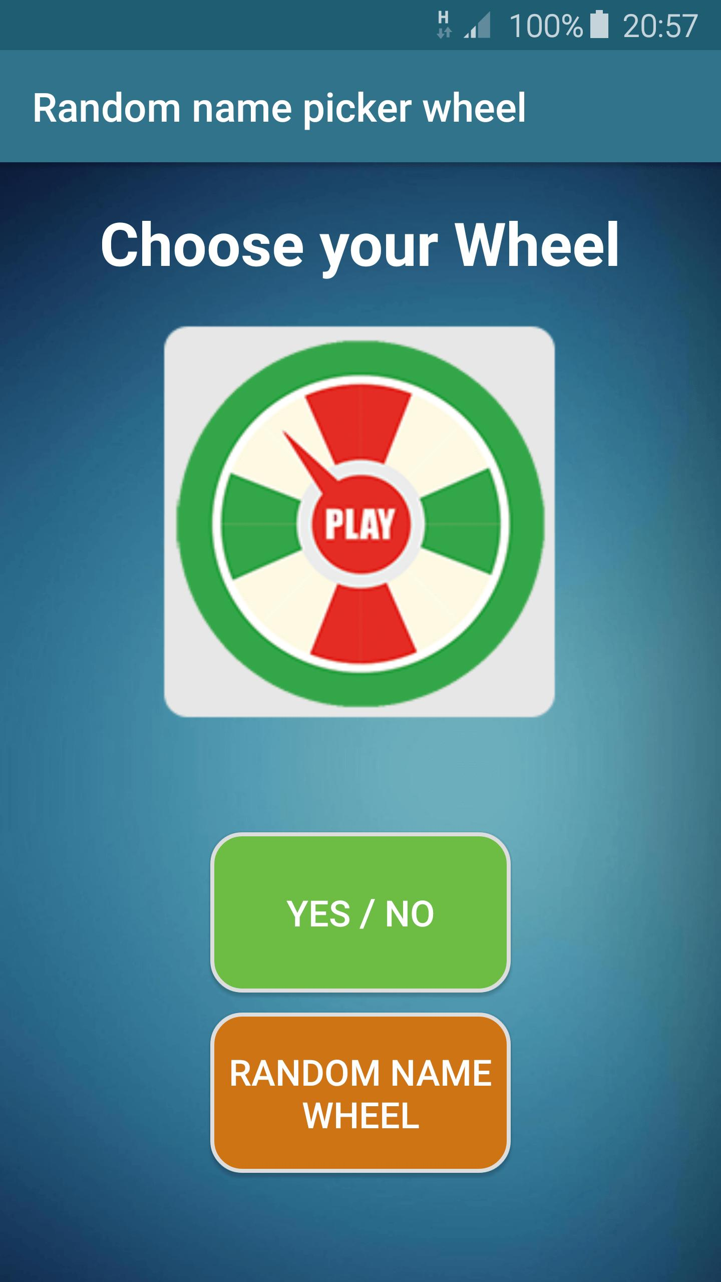 Random name picker wheel for Android - APK Download