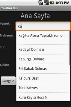 Tarifini Bul screenshot 1