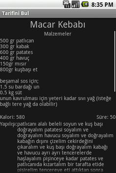 Tarifini Bul screenshot 3