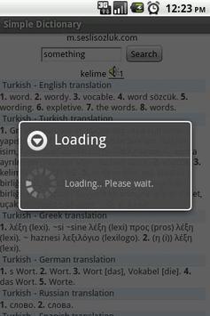 Simple Dictionary apk screenshot