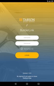 Tarion BuilderLink Mobile apk screenshot