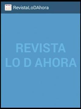 Lo D Ahora Revista poster