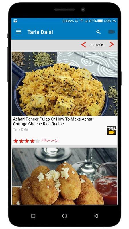 Tarla dalal recipes indian recipes apk download free food drink tarla dalal recipes indian recipes apk screenshot forumfinder Choice Image