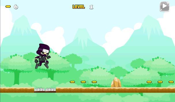 Ninja Jungle Running screenshot 2