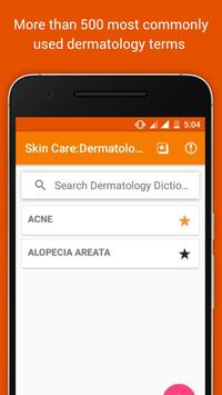 Skin Care:Dermatology Glossary poster